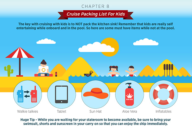 cruise packing list for kids