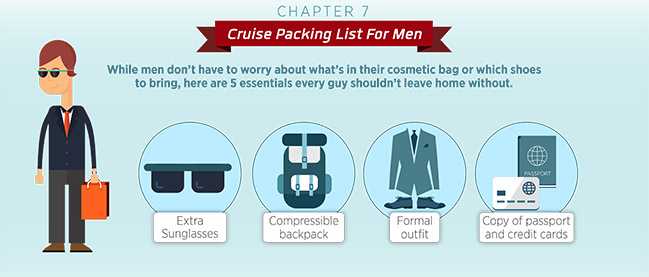 cruise packing list for men