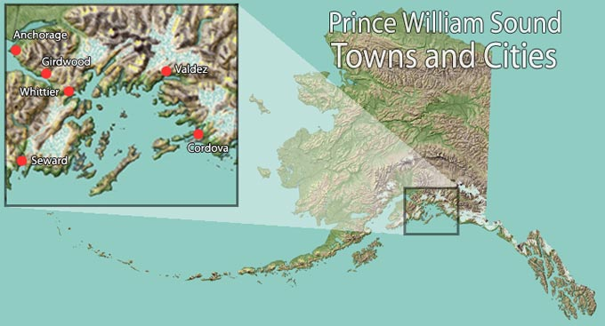 Alaska Towns Within Inside Passage