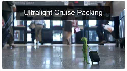 Ultra light cruise packing